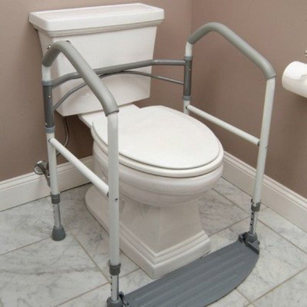 Handicap Portable Toilet Rail Folding Elderly Surround Support Aid Grab Bar New