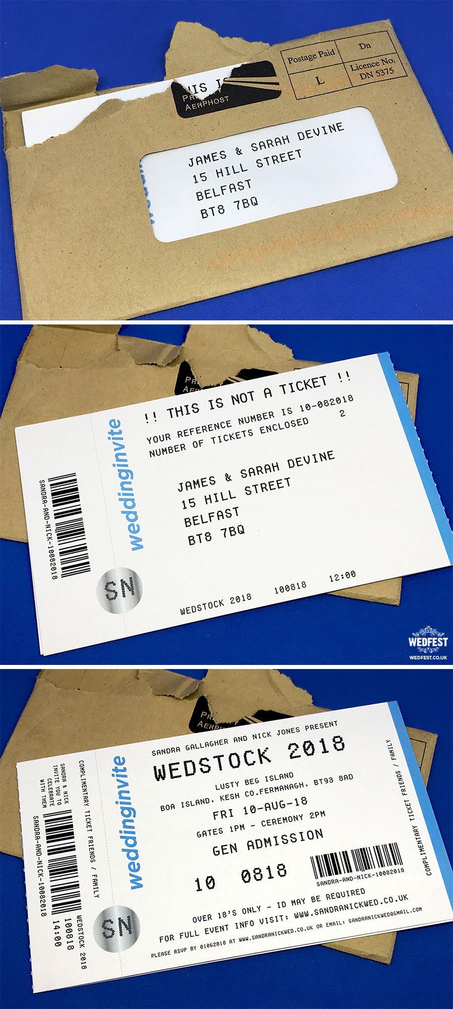 ticketmaster theme concert tickets wedding invitations http://www ...