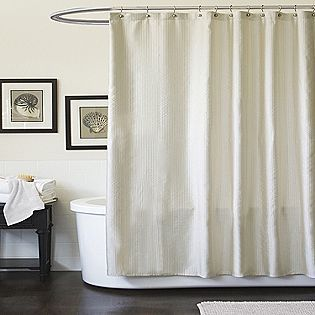 Lush Decor Channel Ivory Shower Curtain Sears Green Shower