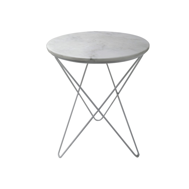 St021 A Freedom Modern White Marble Side Table Hanssz Side Table Marble Side Tables White Marble Side Table