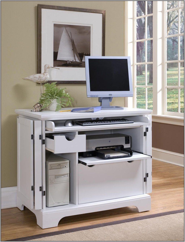 Medium Wood Finish Corner Computer Desk With Printer Shelfthis Medium Wood Finish Corner Computer Desk Computer Desks For Home Desk Furniture Small Corner Desk