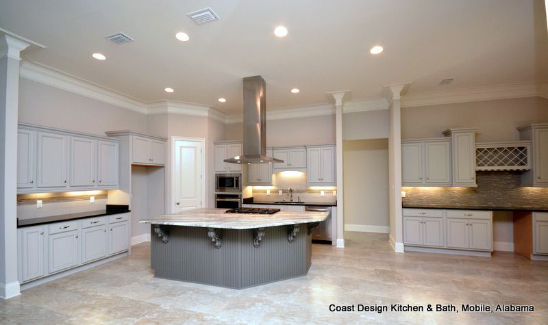 This Coast Design Kitchen Utilizes Integrity Cabinets In Fog And Simple Coast Design Kitchen And Bath Design Ideas