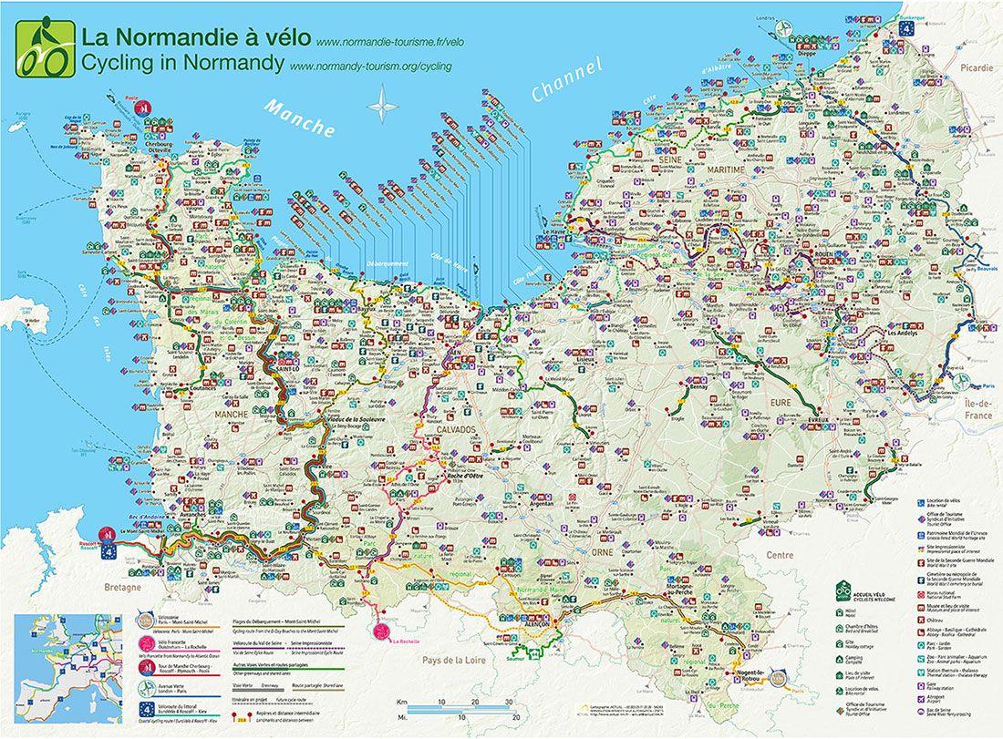 Carte Itineraires Velo Normandie 2015 Tourism Tour De France