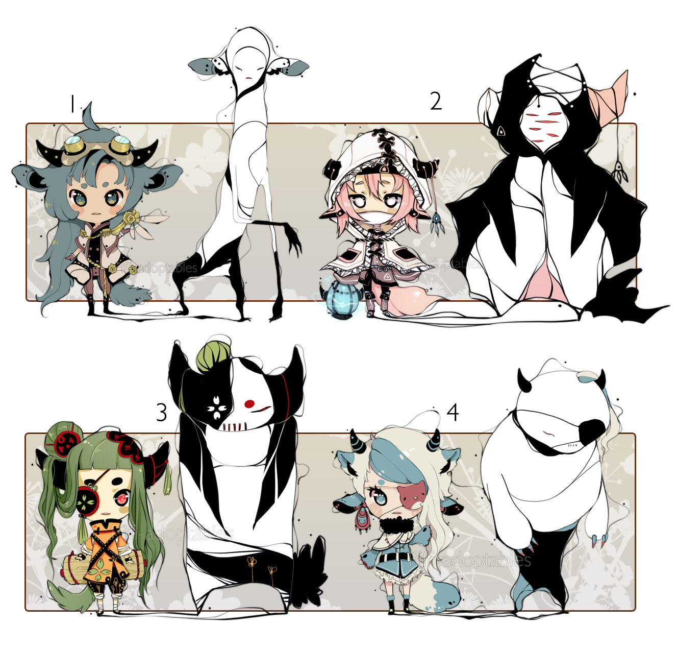 [CLOSED] ADOPT Auction 69 - Shadosmonsters by Piffi-adoptables on deviantART