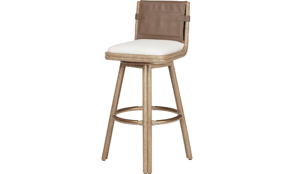 Bercut Swivel Counter Barstool By Mcguire Mco334 Mcguire Furniture Bar Stools Counter Bar Stools Comfortable Dining Chairs