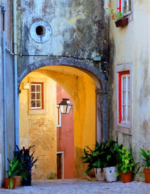 Sintra, Portugal.  Great town with so much color and fun history.  Would go back in a heartbeat.