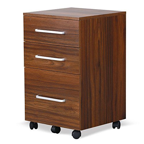 Devaise 3 Drawer Wood File Cabinet Walnut Devaise Filing