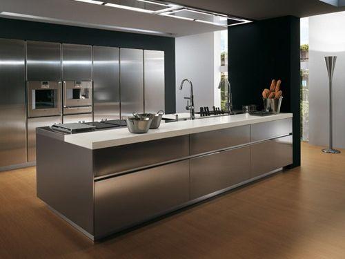 Cocinas Acero Y Granito Buscar Con Google Muebles De Acero Inoxidable Cocinas De Aluminio Cocinas Acero Inoxidable