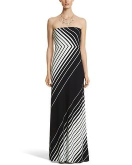 1cdbfc879 White House | Black Market Strapless Stripe Maxi--Summer dresses, skirts,  etc. on sale 50% or more. They also have shrugs for those dresses you don't  want ...