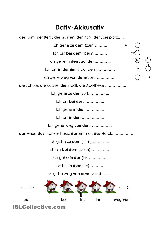 dativakkusativ � schule pinterest deutsch deutsch