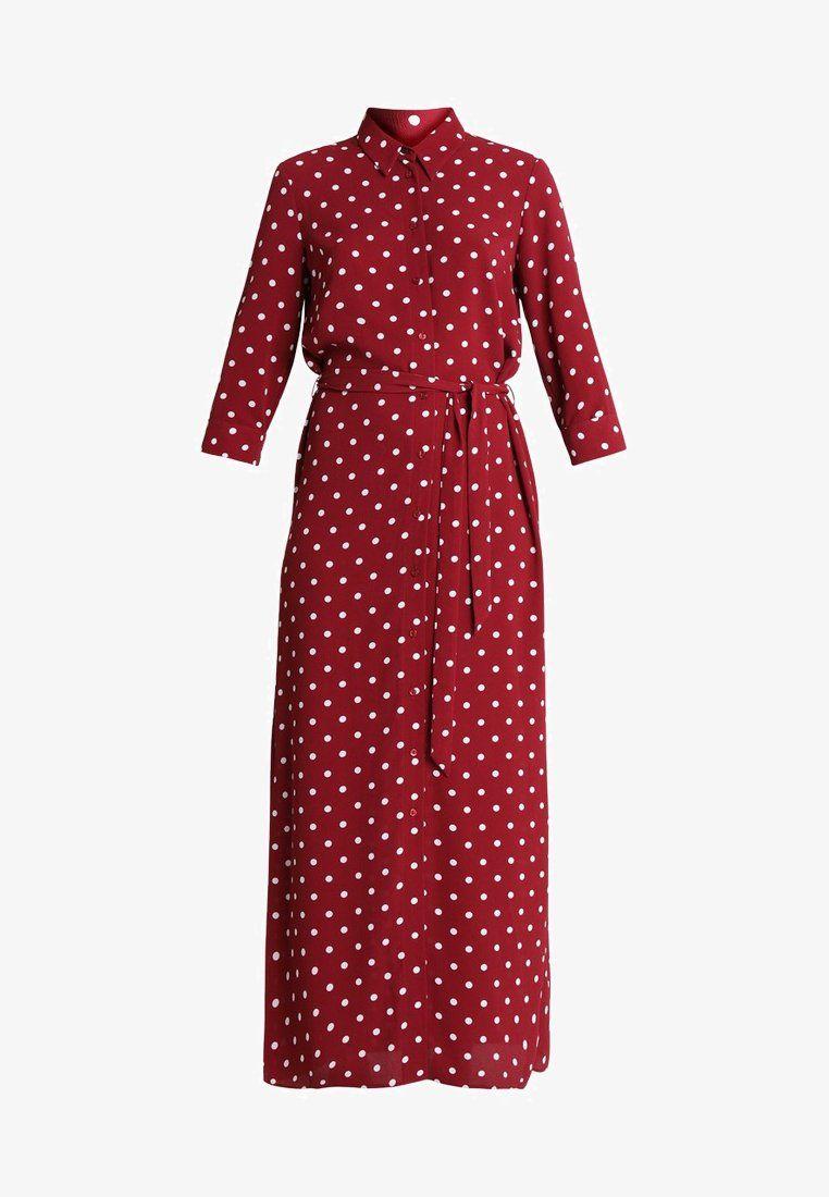 Maxi Jurk Bordeaux.Spot Shirt Dress Maxi Jurk Berry Zalando Nl My Style Of