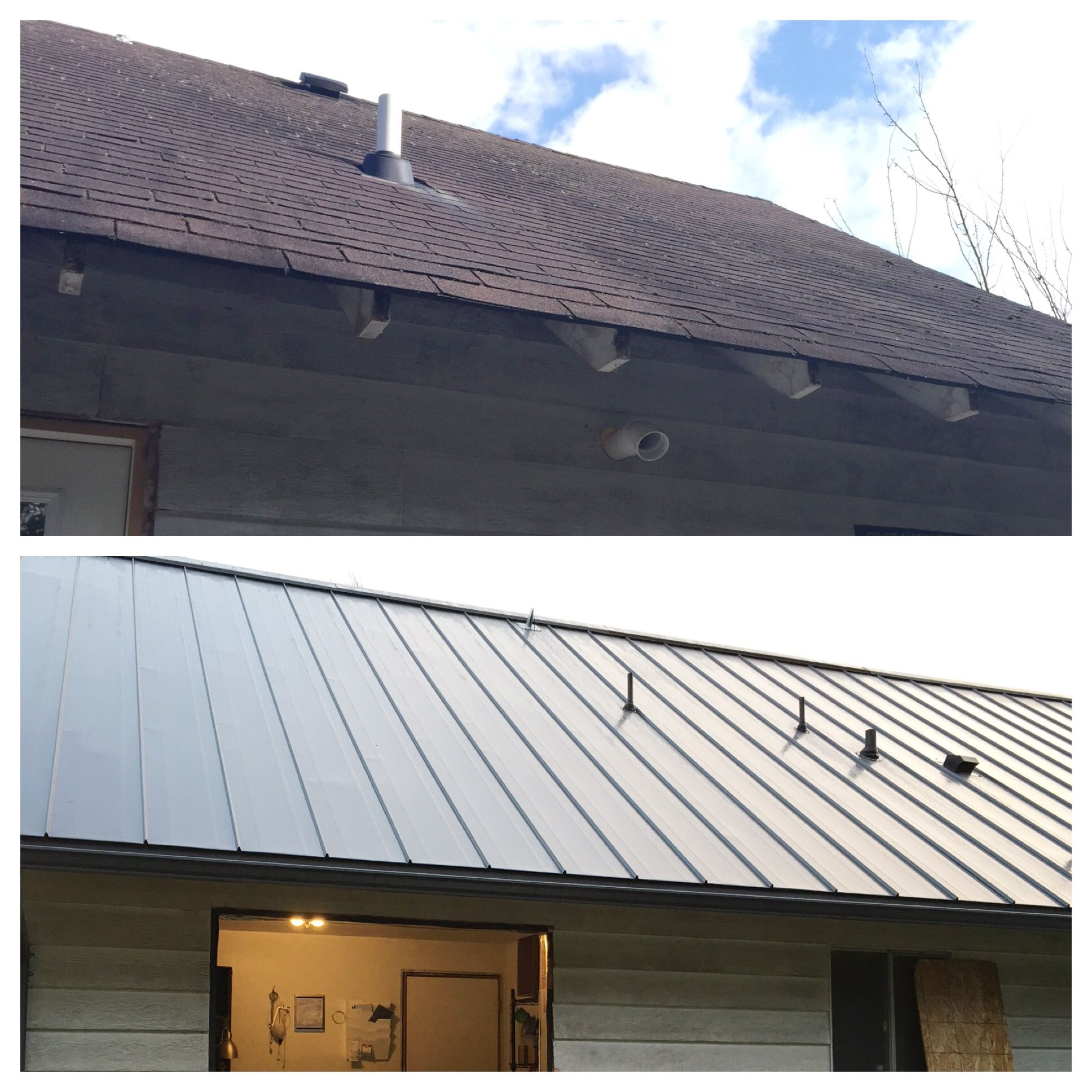 New Roof Storm Grey Flat Cb 150 Standing Seam With Pencil Ribs Custom Bilt Metals Standing Seam Concealed Fastener Panel System Avail Fermette Maison Toiture