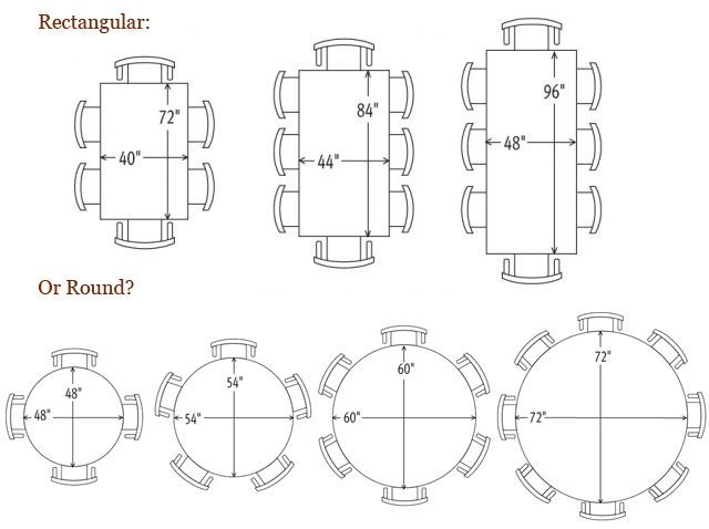 Image Result For 6 Person Round Dining Room Table Dimensions Part 8