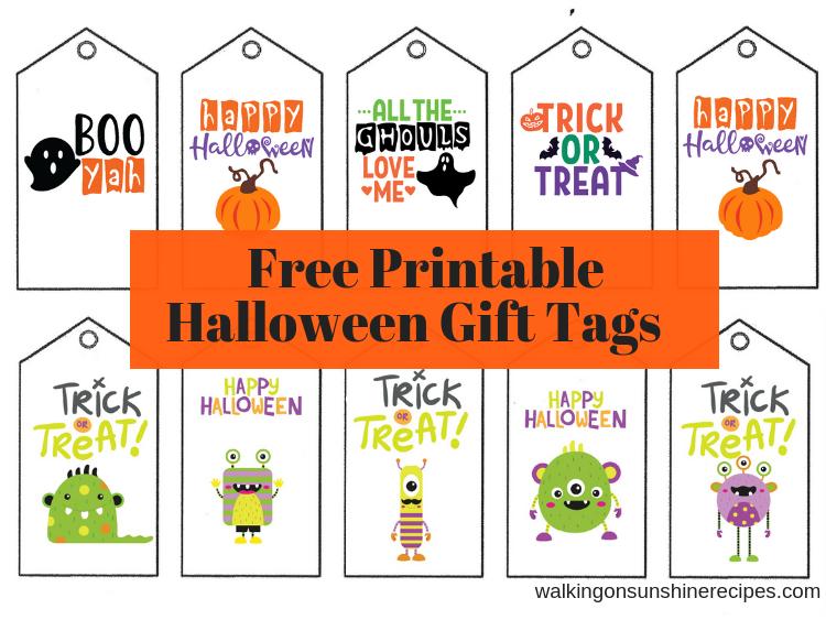 Printable Halloween Gift Tags Walking On Sunshine Recipes Halloween Printables Printable Halloween Tags Halloween Gift Bags