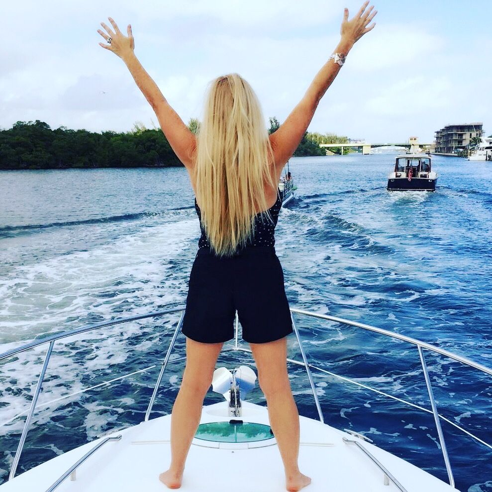 Carin Maxey Boating in Miami Water sports, Boat, Photo
