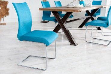 Moderner Design Freischwinger Stuhl SUAVE lemon mit
