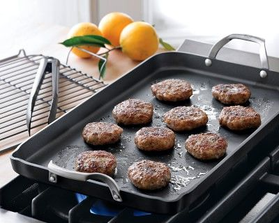 Calphalon Unison Nonstick Double Griddle Set With Tongs And Rack Williamssonoma 99
