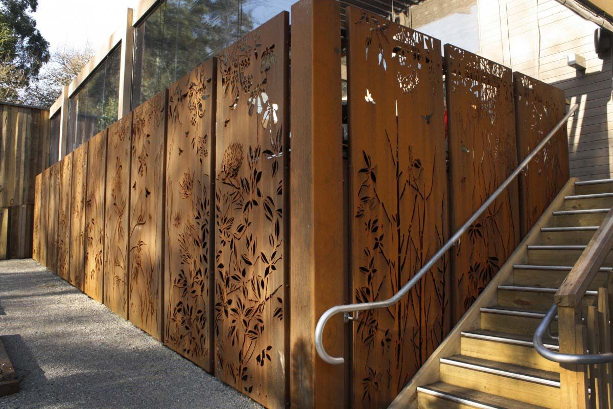 decorative garden screens metal screens in melbourne increased aesthetic appeal while providing privacy - Decorative Metal Panels