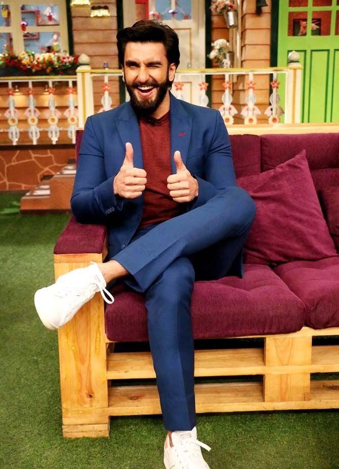 Ranveer Singh promoting #Befikre on the sets of 'The Kapil