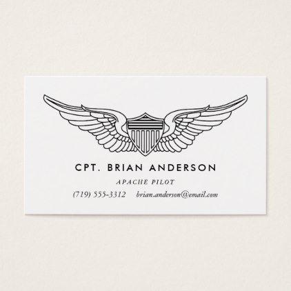 pilot wings professional aviator business card professional gifts custom personal diy - Aviator Business Card