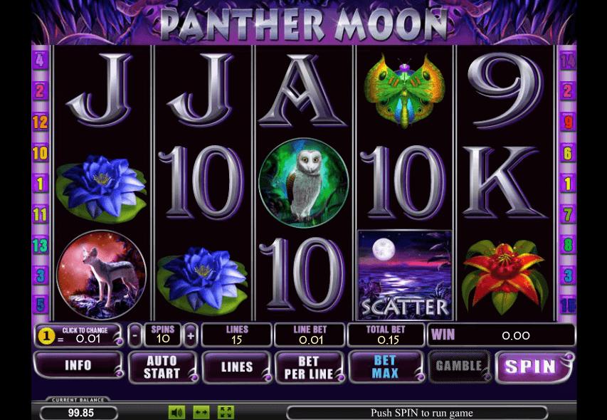 Игровой автомат - лунная Пантера - играть онлайн