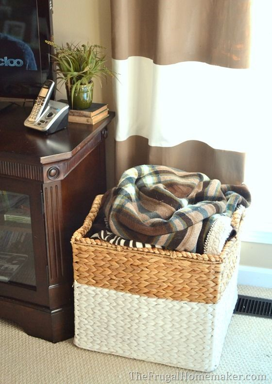15 Ways To Use Open Storage To Organize Your Home Living Room Baskets Living Room Blanket Blanket Storage Basket #storage #basket #for #living #room