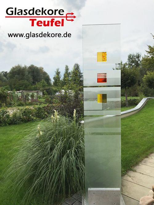 Glasdeko im garten glas im garten glaskunst glas und for Glasdeko garten