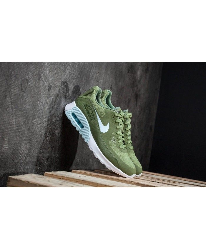c94433819f Women's Nike Air Max 90 Ultra 2.0 Palm Green/White/Black/Glacier Blue 881106 -300