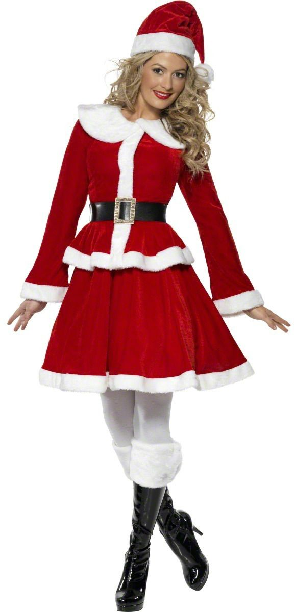 02d5adf3e2d59 Miss Santa Costume with Muff | Santa | Christmas fancy dress ...