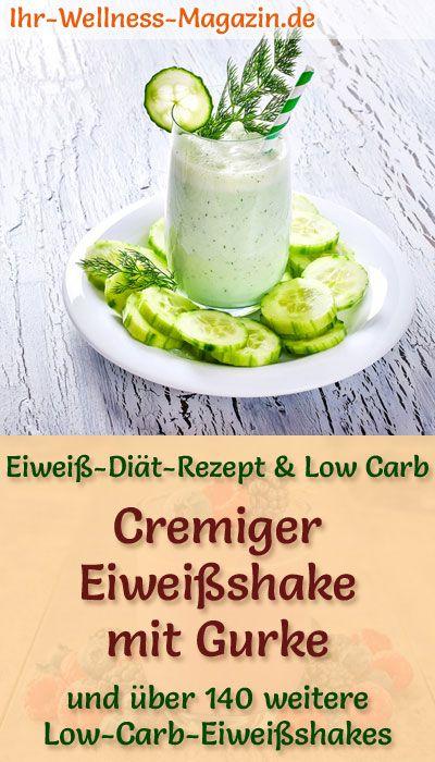 Eiweißshake mit Gurke – Low-Carb-Eiweiß-Diät-Rezept zum Abnehmen