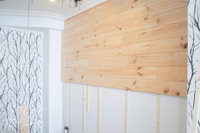 Pon tu mismo una pared de madera de friso revestimiento madera pinterest - Decorar con friso ...
