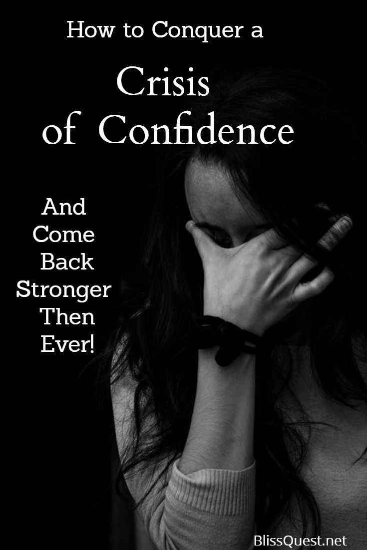 How to Handle a Crisis of Confidence