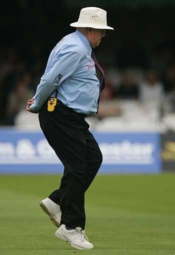 Only One Umpire Was Known For Doing Assorted Hops Skips And Especially The Gull Like One Legged Stance When Sports Hero Cricket England Pinterest Marketing