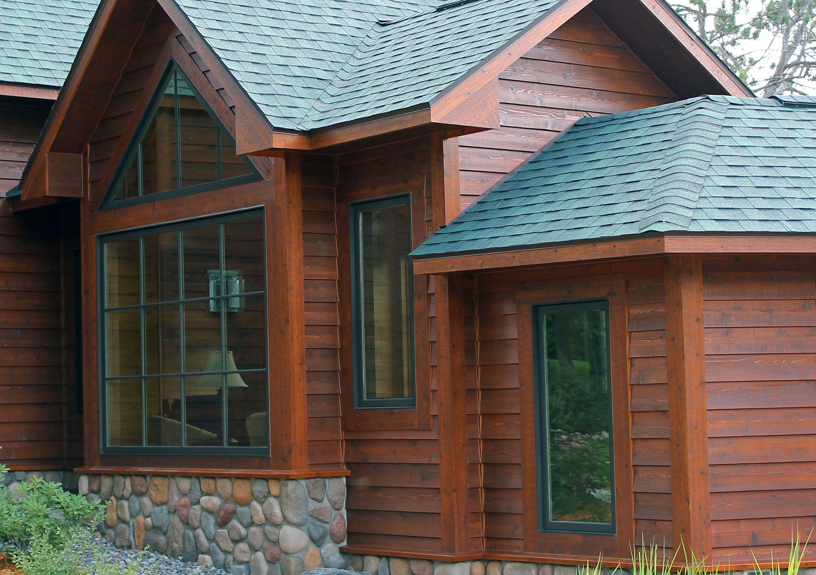 5 4 8 Tight Knot Cedar Rabbeted Bevel Sikkens L S 077 Cedar 085 Teak Cedar Stain Wood Siding House Styles