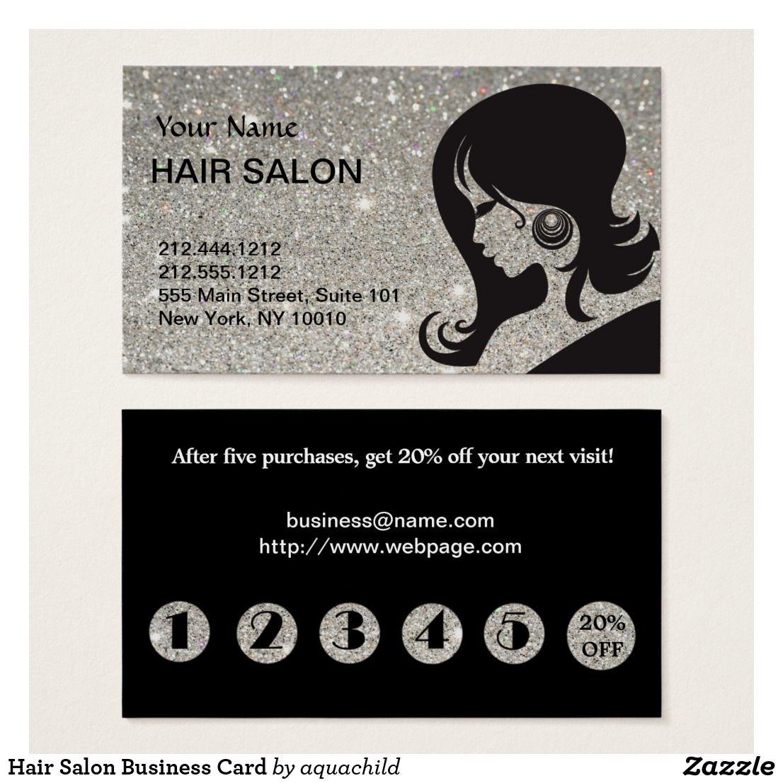 Pin On Hair Salon Business Cards