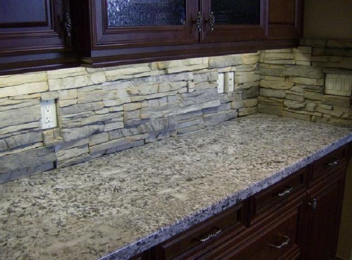 Kitchen Backsplash Rock stone backsplash for kitchen the perfectionist one: grey marble
