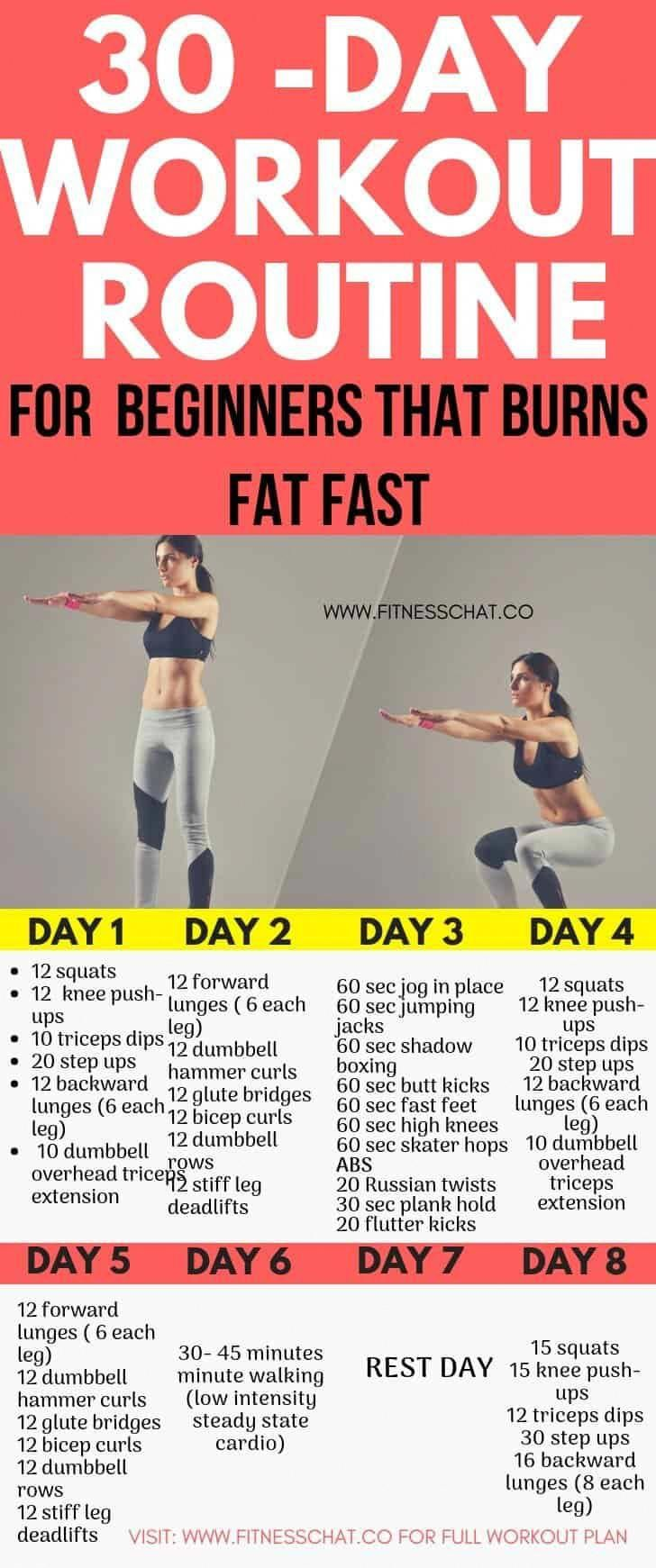 30-Day Fat Burning Workout Routines for Beginners