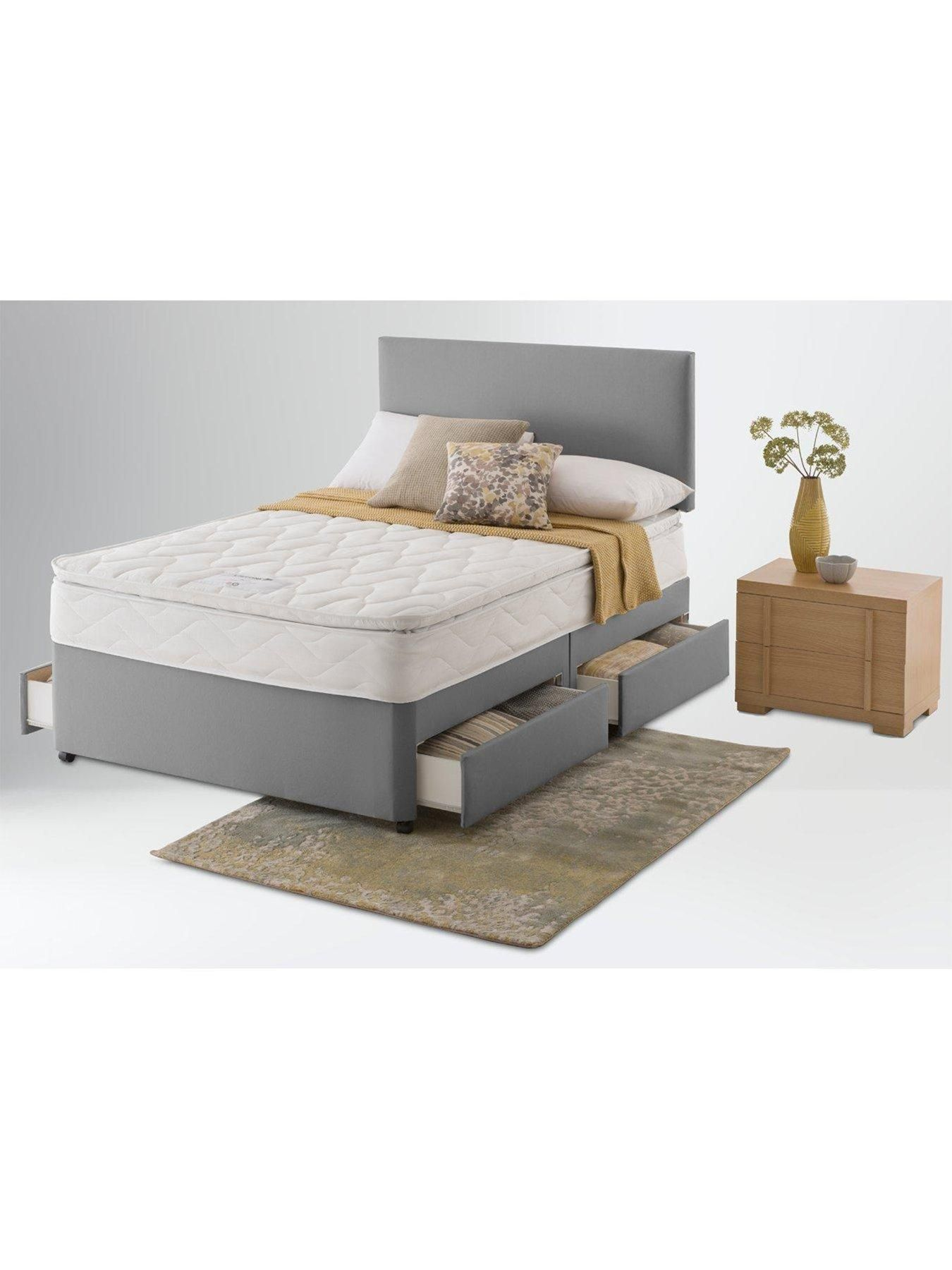 Silent Night Miracoil 3 Pillow Top Mattress Layezee Fenner Bonnel Pillowtop Spring Divan Bed With Storage