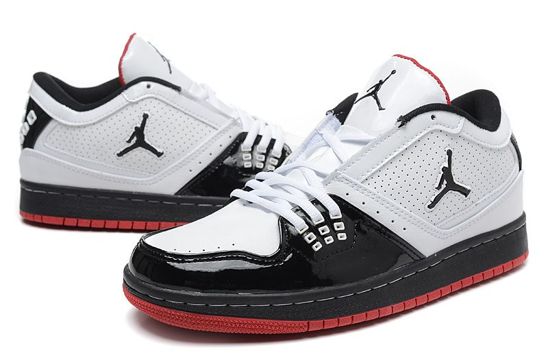 2018 的 Jordan 1 Flight Low White Black Crimson Hot Sale  d642fe037