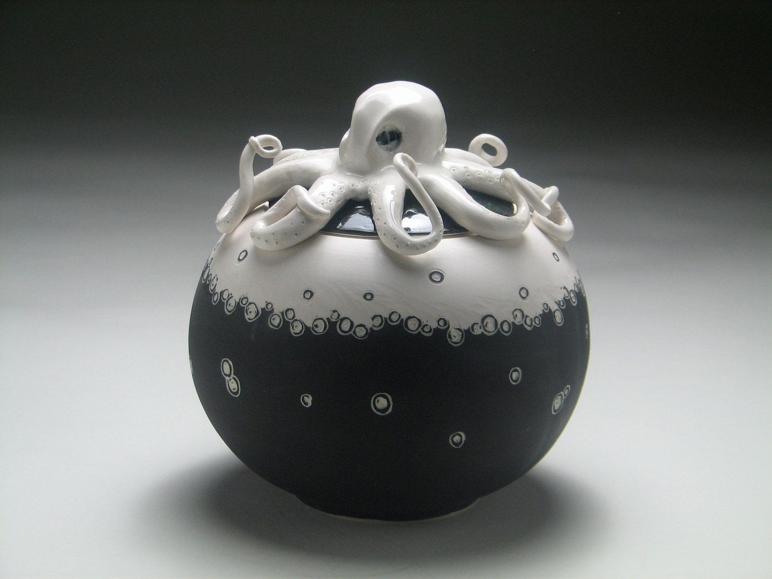 Ceramic Octopus Octopus Jar 95 00 Via Etsy Etsy Finds Pinterest