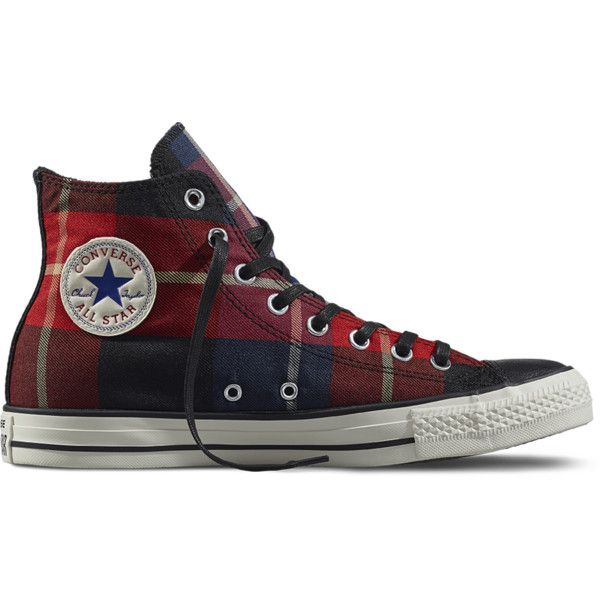 Pair of black Converse All Star high tops, Hipster Polyvore