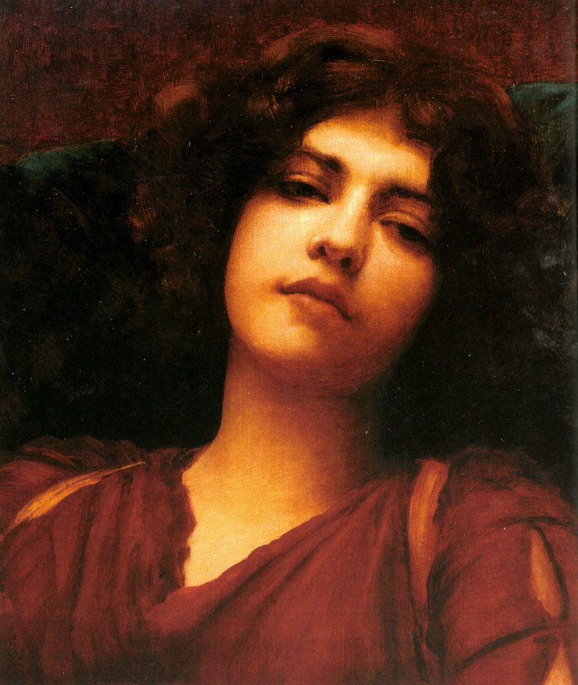 Her eyes!! John William Godward (1861 – 1922), English painter from the end of the Pre-Raphaelite / Neo-Classicist era.
