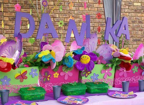 decoracin de fiestas infantiles de flores fiestas infantiles decoracion