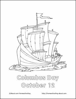 Columbus Day Coloring Pages Christopher Columbus Unit Study Coloring Book Pages