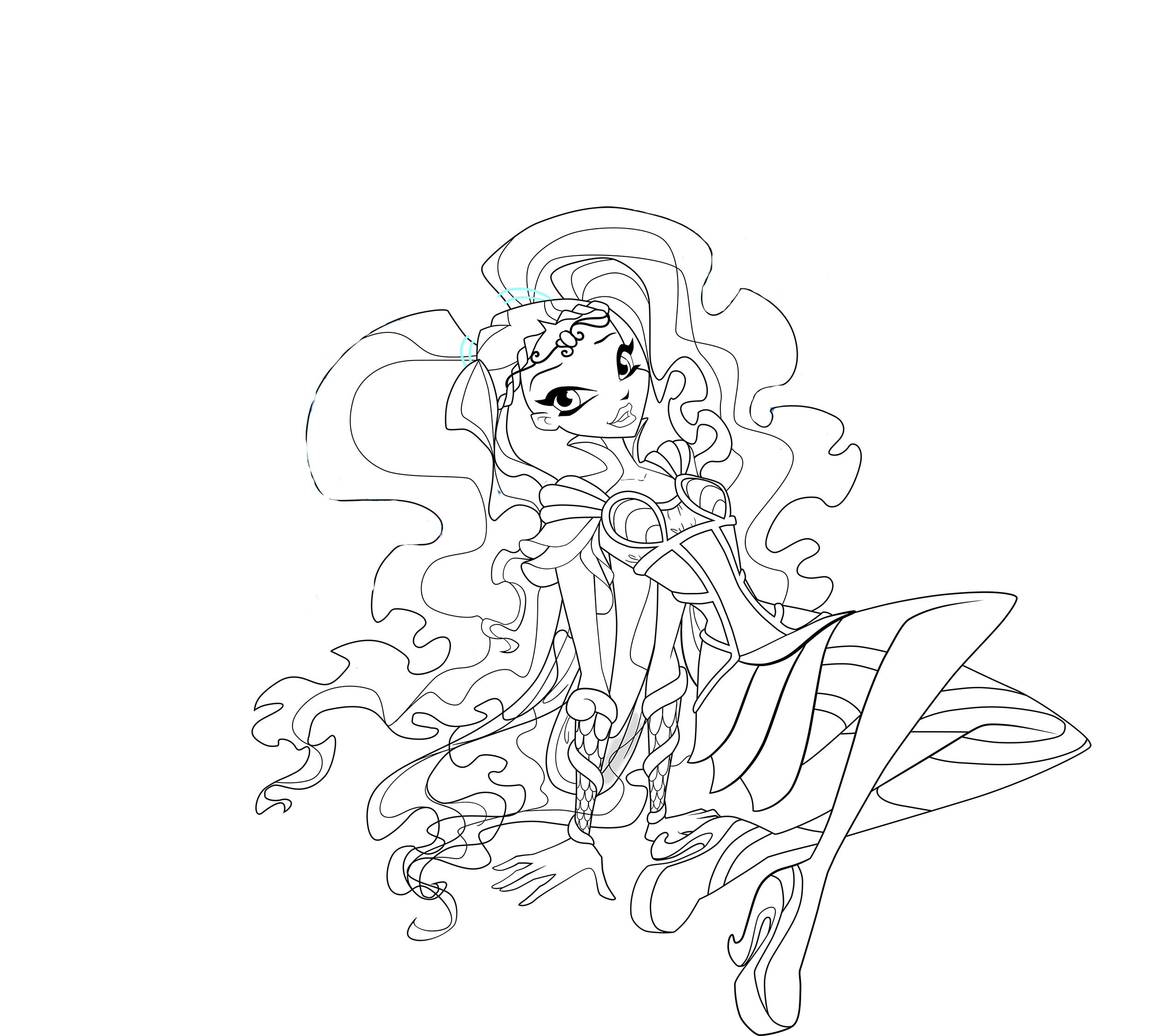 Winx Club Bloomix Coloring Pages Winx Club Bloomix Coloring Pages