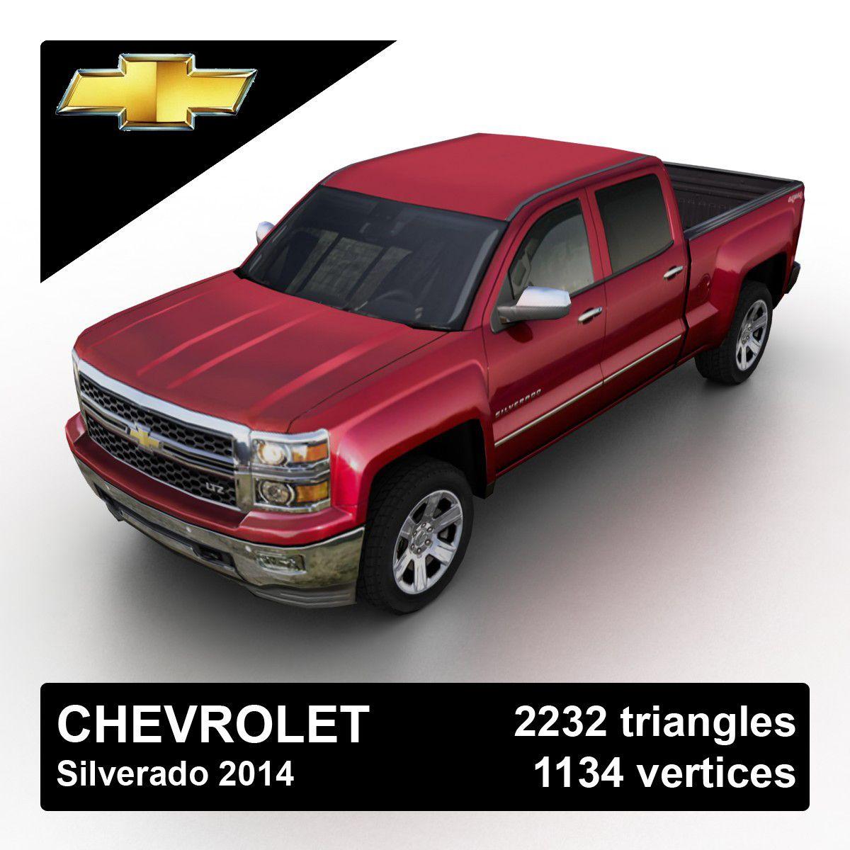 2014 Chevrolet Silverado Pickup Truck 3D 3Ds - 3D Model | 3D ...