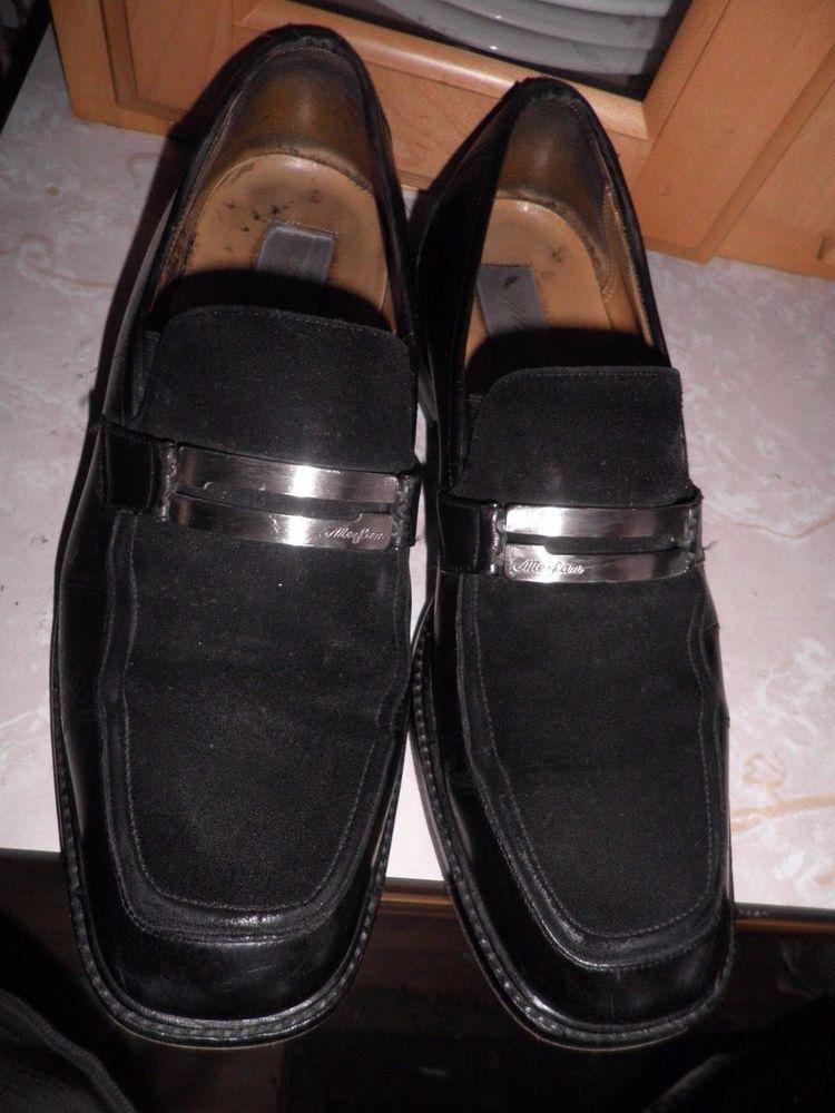 Men's Mezlan Suede Topped Black Shoes