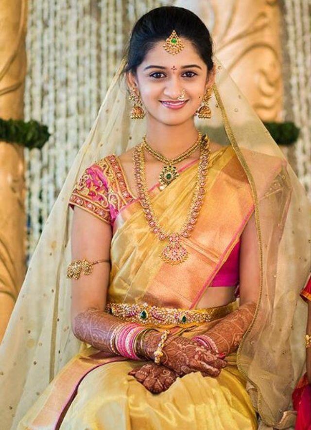 Bridal saree and jwelery | Bridal Sarees