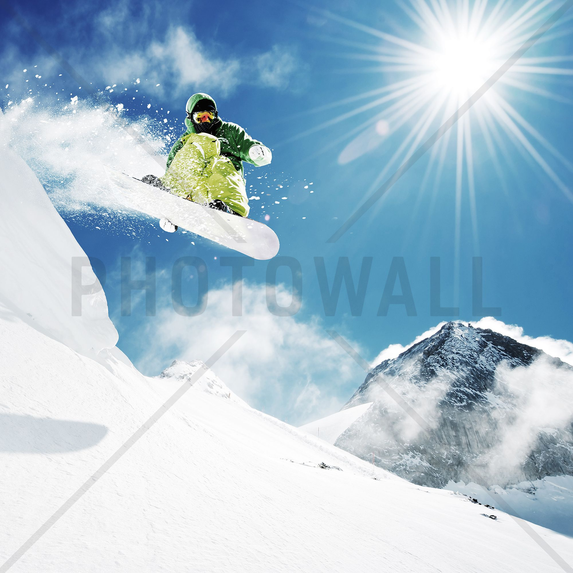 Snowboarder at jump wall mural photo wallpaper photowall snowboarder at jump wall mural photo wallpaper photowall amipublicfo Image collections