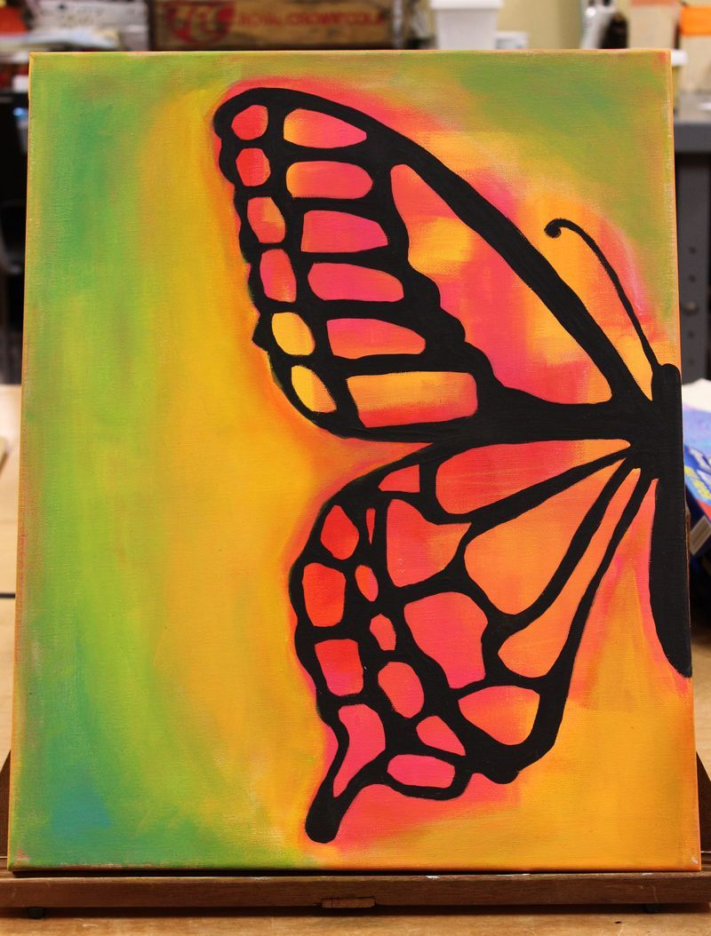 The 25 best butterfly canvas ideas on pinterest for 3d canvas ideas